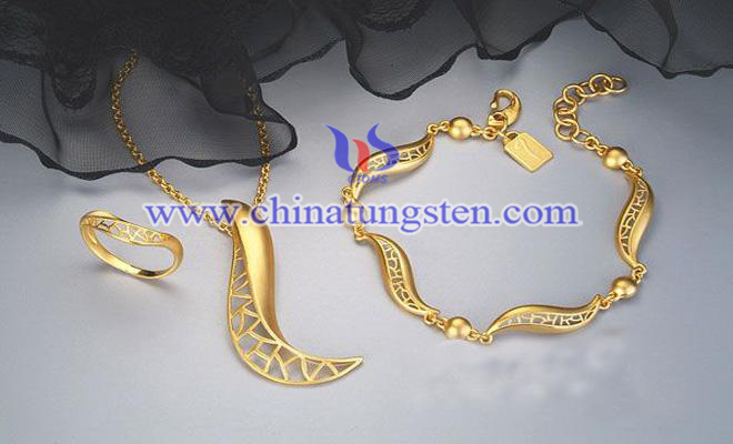 鎢合金鍍金飾品圖片