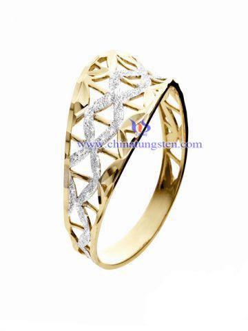 鎢合金鍍金戒指圖片