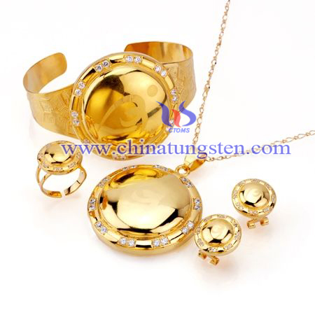 gold plated tungsten alloy ornaments image