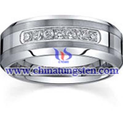 tungsten-diamond-ring