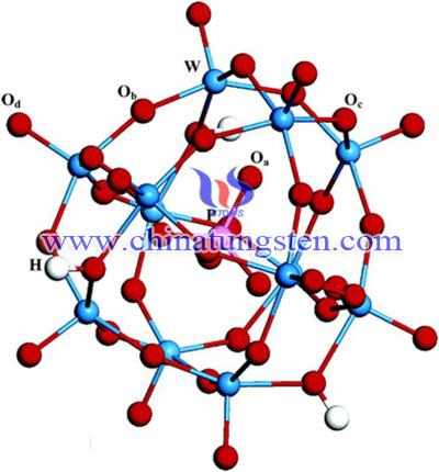 12个钨原子和氧原子相连形成一个笼子