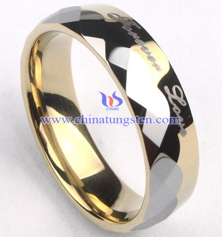 engraved tungsten carbide ring for man