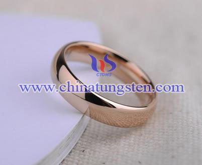 18K rose gold-plated tungsten carbide ring price for women