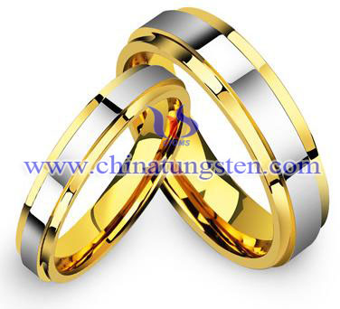 tungsten carbide lovers rings