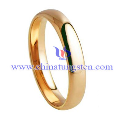 TUR001RL 3.5mm-tungsten rose gold ring for woman