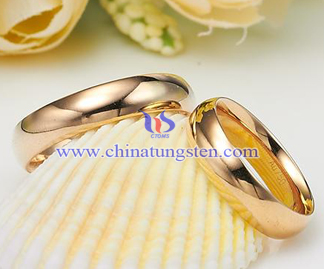 tungsten gold lovers' rings