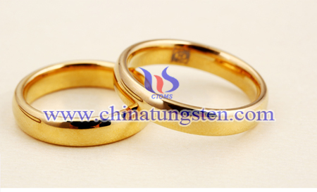 tungsten gold couple rings