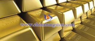 tungsten gold plated bar