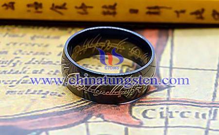 TUR005BM-black tungsten ring