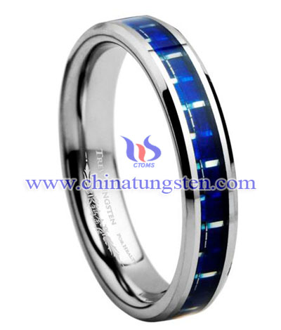 inlay tungsten ring for woman