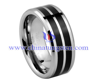 black tungsten ring for man
