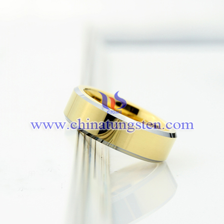 tungsten gold ring for man