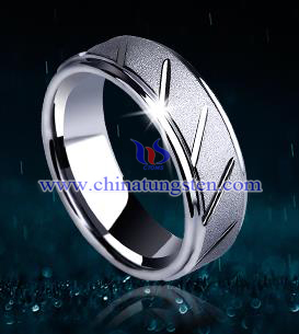 men frosted tungsten gold ring