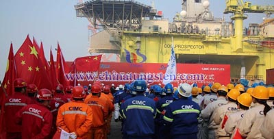 delivery of the strongest ultra deepwater drilling platform image