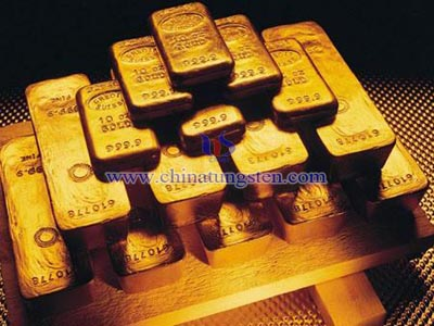tungsten gold bullion image