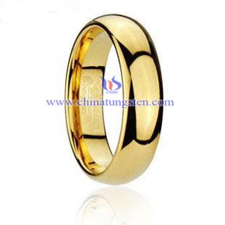 鎢金鍍金戒指
