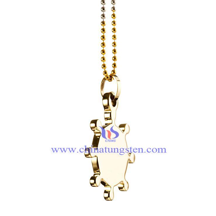 鎢金鍍金項鏈