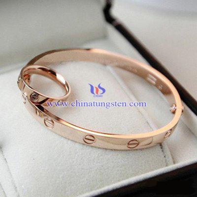 鎢合金鍍玫瑰金手環圖片