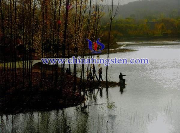 秋季大水域垂釣圖片