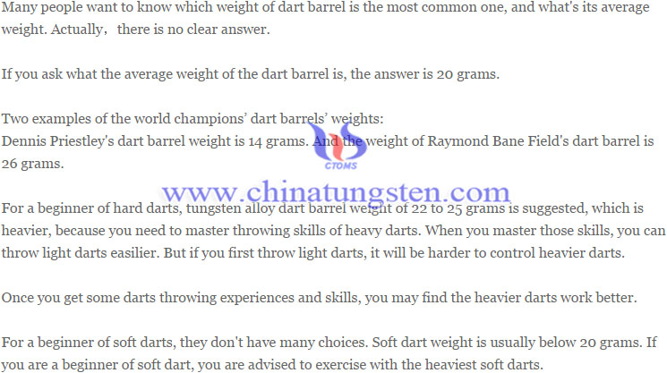 tungsten alloy dart barrel image