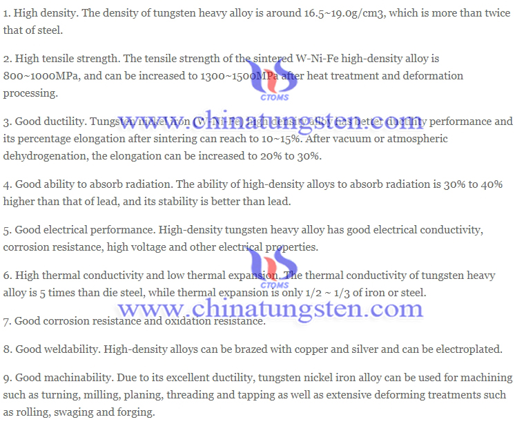 properties of tungsten heavy alloy picture