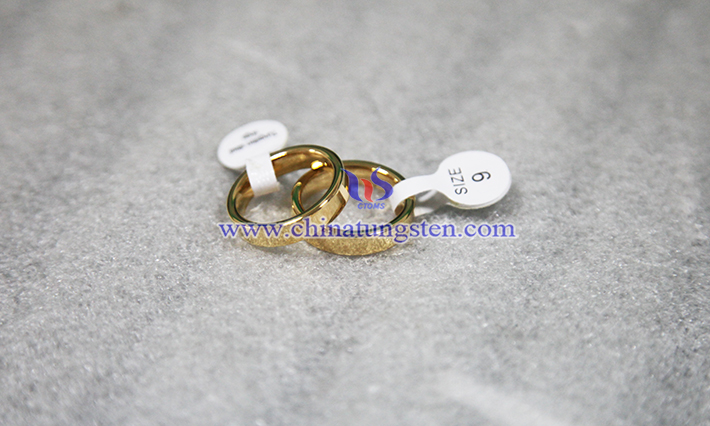 women gold plated tungsten ring image