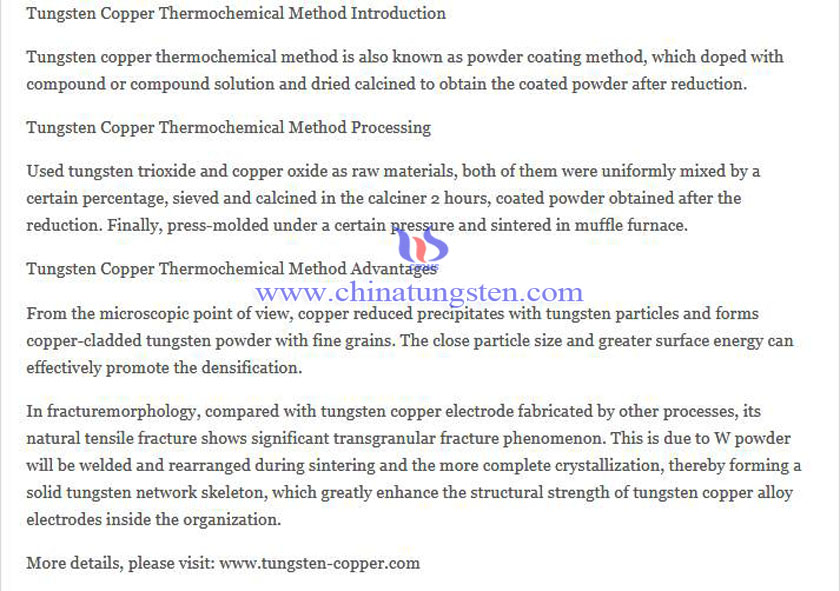 tungsten copper thermochemical method picture