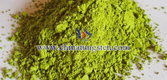 yellow tungsten oxide photo