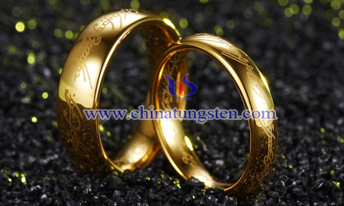 gold plated tungsten band picture