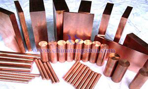 tungsten copper high voltage contact material image