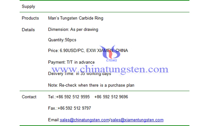 man tungsten carbide ring price picture