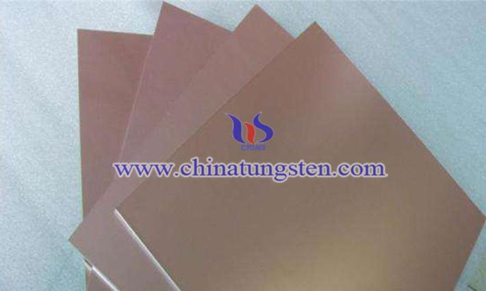 tungsten copper sheet image