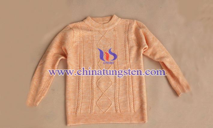 黄色氧化钨女士保暖毛衣图片