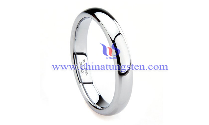 women tungsten wedding ring picture