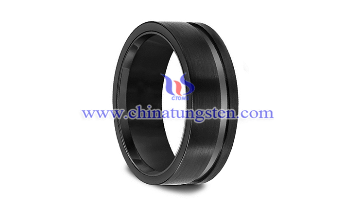 black tungsten wedding ring picture