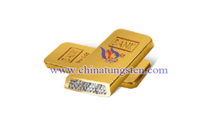 鍍金鎢合金條圖片