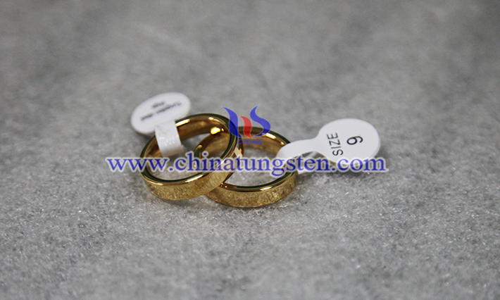 gold plated tungsten wedding ring picture