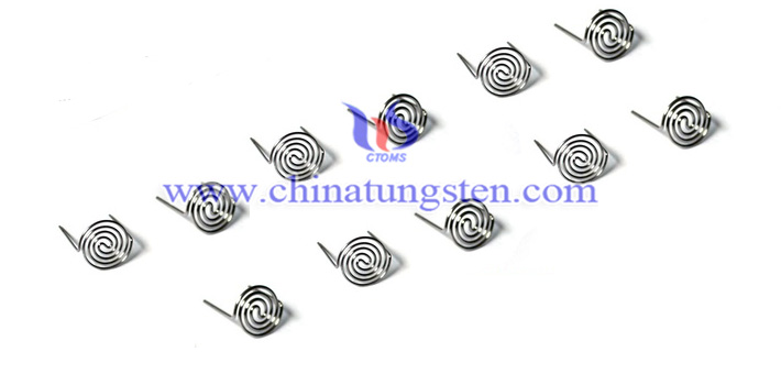 center type coil tungsten filament image
