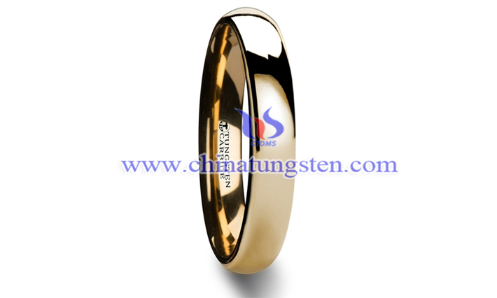 gold-plated tungsten carbide band picture