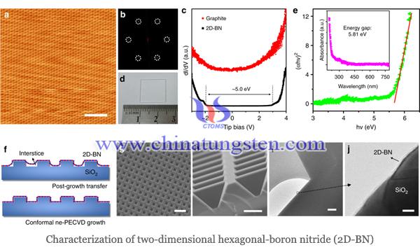 二维六方氮化硼表征图片