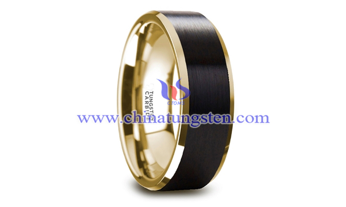 gold plated tungsten polished ring picture