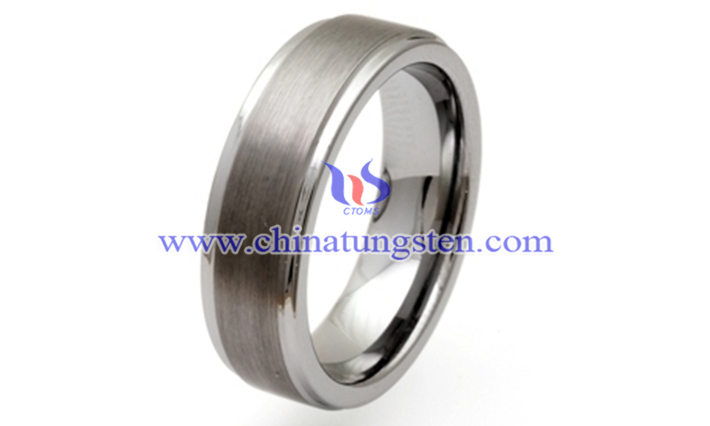polished tungsten carbide ring picture