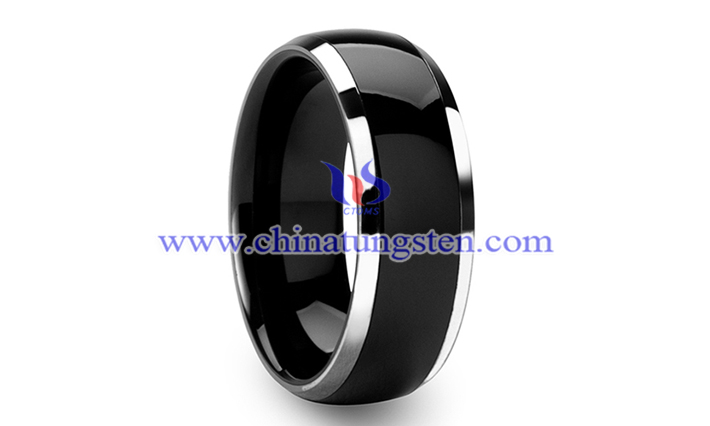 black domed tungsten wedding band picture