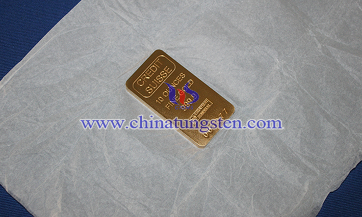 tungsten gold plated bar picture