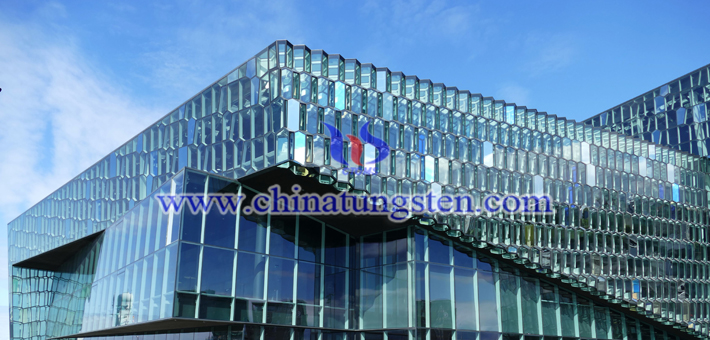 tungsten trioxide applied for building glass energy saving coating picture