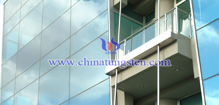 yellow tungsten oxide applied for building glass energy saving coating picture