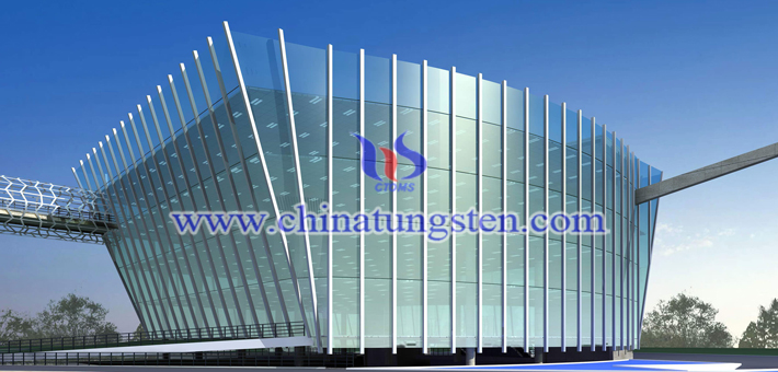 WO3 powder applied for heat-insulating energy-saving glass picture