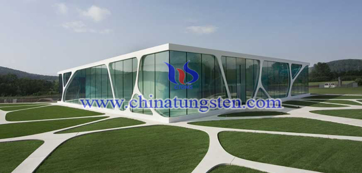 nano yellow tungsten oxide applied for heat-insulating energy-saving glass picture