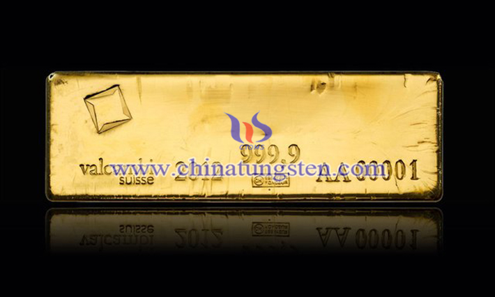 tungsten gold plated bullion picture