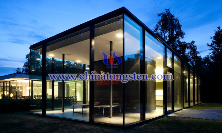 tungsten oxide applied for new energy efficient building glass picture